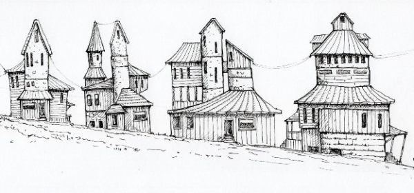 Sketch of a village?
