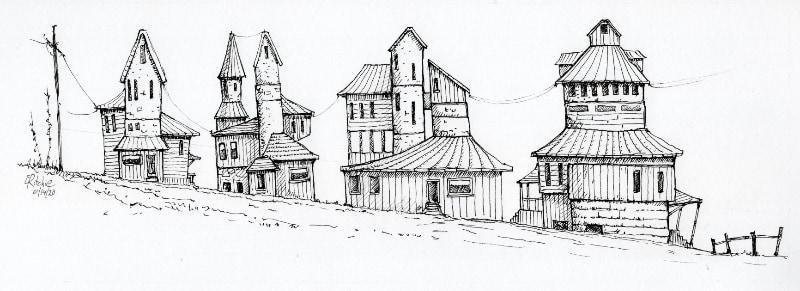 Sketch of a village?