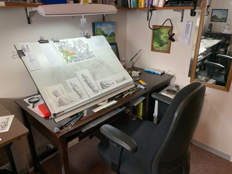 Image of my drawing studio