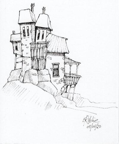 Houses huddled - image