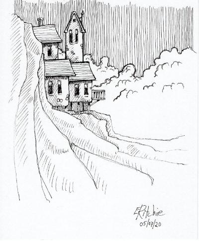 peeking houses - image