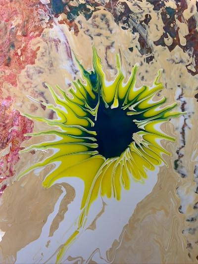 An experiment close up image