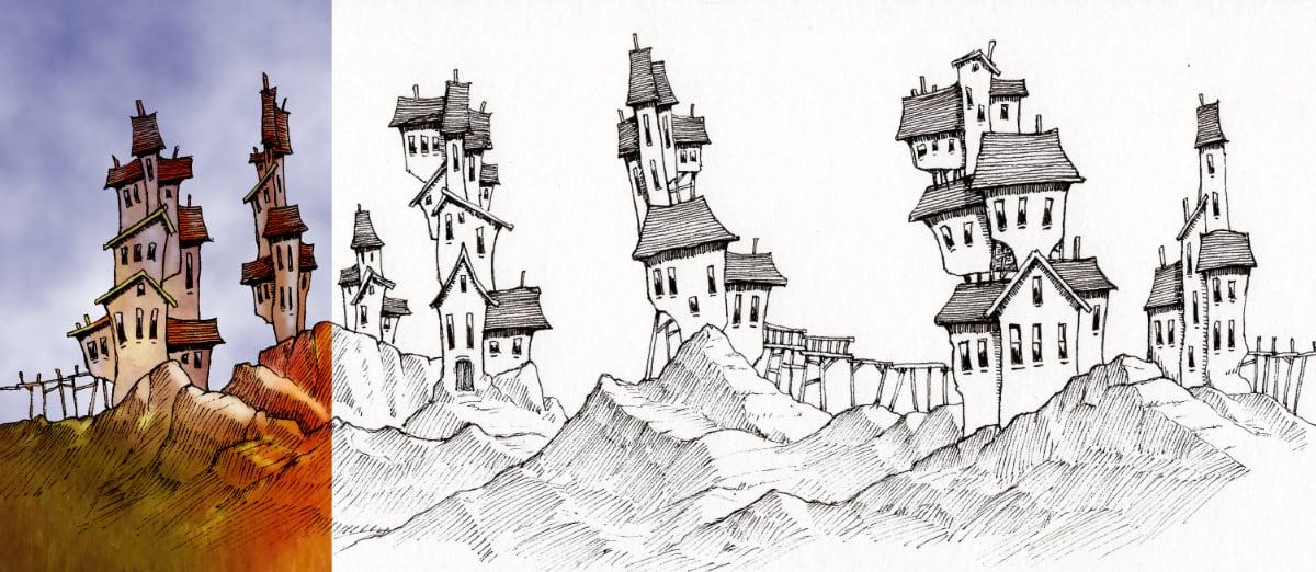 original ink drawing